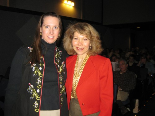 Fan Kimberly Wilder (l) with composer/conductor Victoria Bond