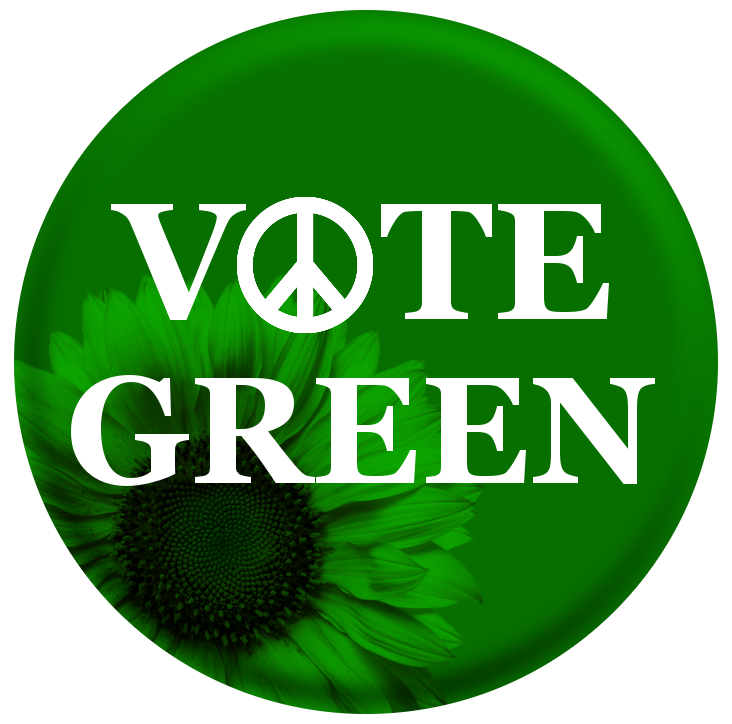 Vote Green, Peace, Flower by Shawna Cole